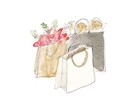 Holiday Shopping Bags II Fine-Art Print