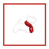Scotty Silhouette with Red Scarf Fine-Art Print