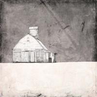 Farmhouse under Grey Skies Fine-Art Print