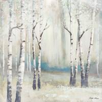 Watercolor December Birch I Fine-Art Print