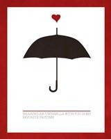 Sharing an Umbrella Fine-Art Print