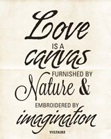 Love is a Canvas Fine-Art Print