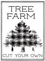 Tree Farm Buffalo Plaid Fine-Art Print