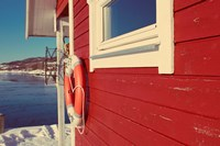 Lake House in Winter Fine-Art Print