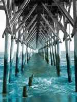 Teal Dock I Fine-Art Print