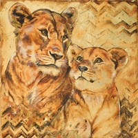 Safari Mother and Son II Fine-Art Print