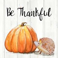 Be Thankful Harvest Hedgehog I Fine-Art Print