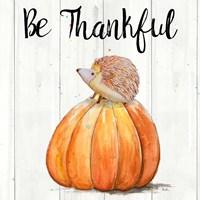 Be Thankful Harvest Hedgehog II Fine-Art Print