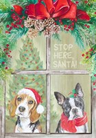 Stop Here Santa Fine-Art Print