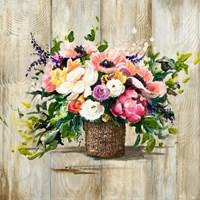 Basket with Flowers Fine-Art Print