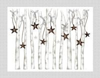 Merry and Bright Birch Trees I Fine-Art Print