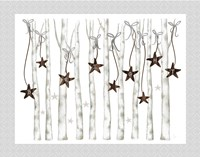Merry and Bright Birch Trees II Fine-Art Print