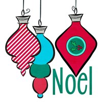 Joyful Christmas Ornaments III Fine-Art Print