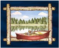 Framed Lake View I Fine-Art Print