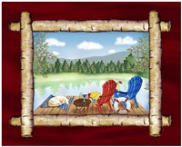 Framed Lake View II Fine-Art Print