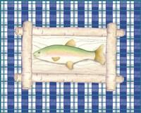 Framed Lake Fish III Fine-Art Print