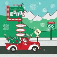 Retro Santa Driving II Fine-Art Print