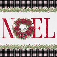 Chickadee Christmas Red III Noel Fine-Art Print