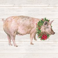 Christmas on the Farm IV Pig Fine-Art Print