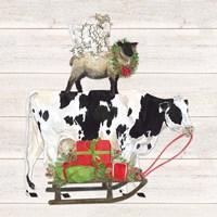 Christmas on the Farm VII Trio Facing right Fine-Art Print
