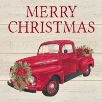Home for the Holidays - Red Truck Fine-Art Print