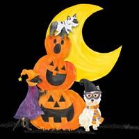 Fright Night Friends IV Pumpkin Stack Fine-Art Print