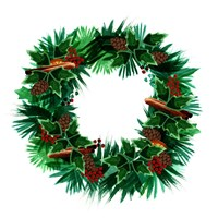 Christmas Hinterland IV Wreath Fine-Art Print