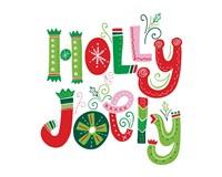 Festive Lettering - Holly Jolly Fine-Art Print