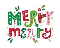 Festive Lettering - Merry Merry Fine-Art Print