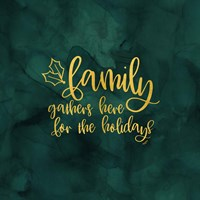 All that Glitters for Christmas III-Family Gathers Fine-Art Print