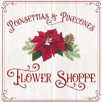Vintage Christmas Signs III-Flower Shoppe Fine-Art Print