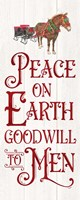 Vintage Christmas Signs panel III-Peace on Earth Fine-Art Print