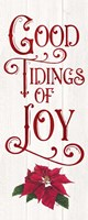 Vintage Christmas Signs panel IV-Tidings of Joy Fine-Art Print