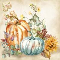 Watercolor Harvest Pumpkin I Fine-Art Print