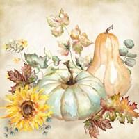 Watercolor Harvest Pumpkin II Fine-Art Print