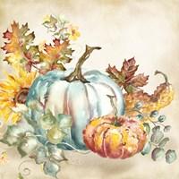 Watercolor Harvest Pumpkin III Fine-Art Print