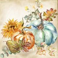 Watercolor Harvest Pumpkin IV Fine-Art Print