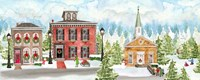 Christmas Village panel I Fine-Art Print