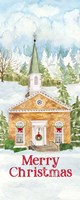 Christmas Village vertical I Fine-Art Print