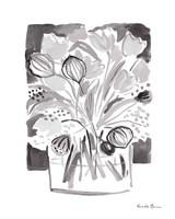 Lemon Gray Tulips II Fine-Art Print