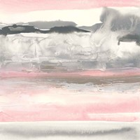 Charcoal and Blush I Fine-Art Print