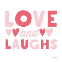 Love and Laughs Pink Fine-Art Print