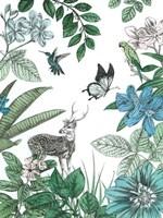 Deer and Flowers Fine-Art Print