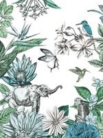 Elephant and Flowers Fine-Art Print