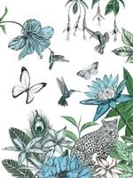 Leopard and Flowers Fine-Art Print