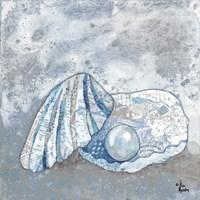 Blue-Gray Seashell I Fine-Art Print