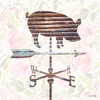 Industrial Pig Weathervane Fine-Art Print