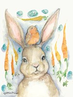 Rabbits and Carrots Oh My Fine-Art Print