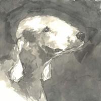Sepia Modern Dog I Fine-Art Print