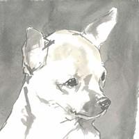 Sepia Modern Dog III Fine-Art Print